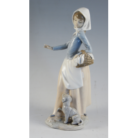 Figure of a peasant in porcelain Nao