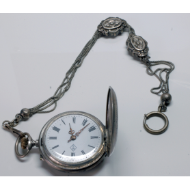 "Pocket watch modernist saboneta with ""châtelaine"", ca. 1900."