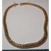 Collar en oro maya trenzada