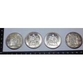 4 Monedas 10 francos franceses