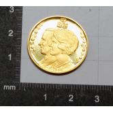 Moneda conmemorativa boda holandesa en oro
