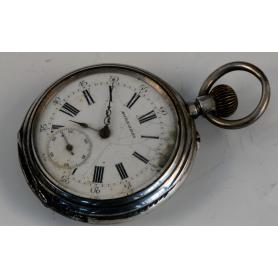 Reloj de bolsillo circa: 1930. en plata de ley trabajada.