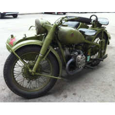 Moto M72 IMZ con sidecar. 750cc. 1956.