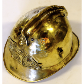 Casco de bombero. Francia, ca. 1900.