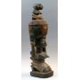 Urna ceremonial africana, perteneciente al pueblo yoruba, Nigeria