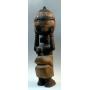 Urna ceremonial africana, de la etnia yoruba, Nigeria.