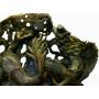 Gran pecera tallada en bowenita variedad de la serpentina.