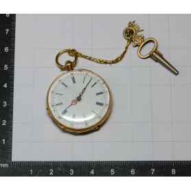 Reloj señora de bolsillo con llave