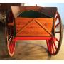 Wagen ziehen tieres. Rustikal. Circa:1900-10.