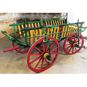 Carriage of animal traction. Rustic. Circa:1900-10.