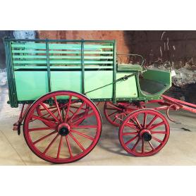 Wagen ziehen tieres. Rustikal. Circa:1900-30.
