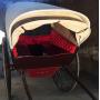Aberto cesta de animais de tracción. Circa:1922.