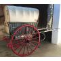 Tartana, ou carro, pechado, animal de tracción. Circa:1920-30.