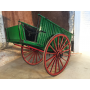 Carriage of animal traction. Rustic. Circa: 1930-1940.