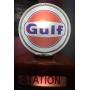 GULF. Dealer, French, gasoline, portable. 1955.