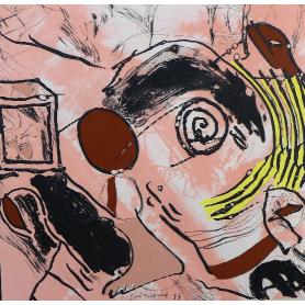 Josep Guinovart - Auf dein gewalt, granat, taubstumme in der dunkelheit
