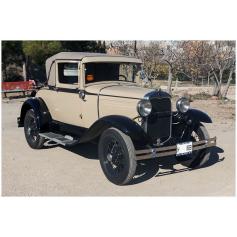 FORD. A. 4/3282cc. 1930. Coupé-Cabrio. Nummernschild-Geschichte.