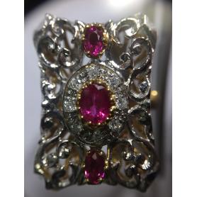 Ring gold bicolor-gesetz.