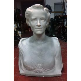 Howard E. D. BAT . Bust en marbre. 1957.