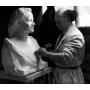 Howard E. D. BAT . Bust in marble. 1957.