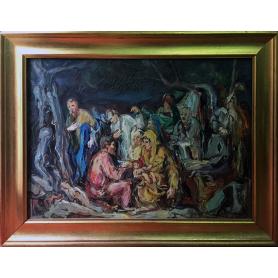 Nicola LANZANELLA (1929). Huile sur toile.