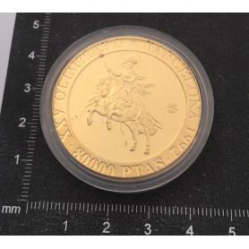 Münze in Feingold zum Gedenken an den XXV Olympischen Spiele.