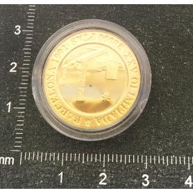 Moeda de ouro fino para conmemorar o XXV Xogos Olímpicos.