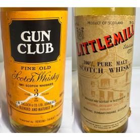 Lote de 2: Gun Club 3ys & Littlemill 5 Years Old. 1960/70s.