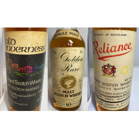 Lote de 3:Old Inverness, Golden Rare   y Reliance. 70s. 80s
