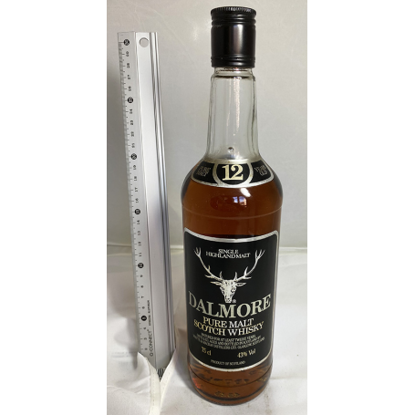 Dalmore 12 years - b. 1970/80 - 75 cl. Whisky pure malt.
