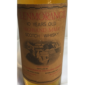 Bot 10 years Glenmorangie. Whisky pure Highland. 1960s.