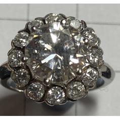 Ring aus 18 Karat Gelbgold. 13 brillante 3,84ct.