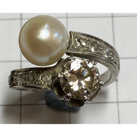 """Ring """"TU i YO"""" in white gold of law."""