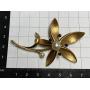 Gold lapel needle brooch for women 518mm.