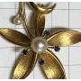 Spilla ad ago con risvolto in oro da donna 518 mm.
