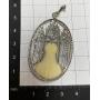 Medaglia religiosa in oro bianco di legge.