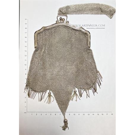 Noucentist Tasche für Frauen, Sterling Silber Mesh
