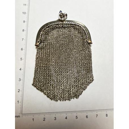 Noucentist bag for women in mesh, sterling silver.