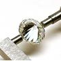 Modern brilliant cut diamond.