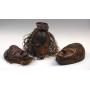 Máscaras de la etnia Tikar, originarias de Camerún.