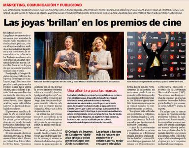 La joieria catalana llueix als  PREMIS GAUDI DEL CINEMA CATALÀ