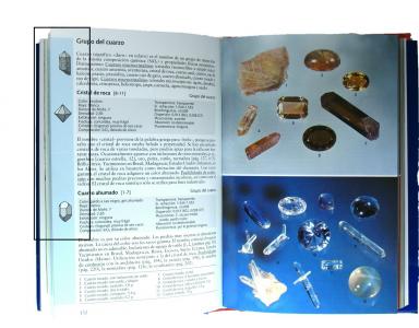 Como se identifican visualmente los minerales en bruto cristalizados
